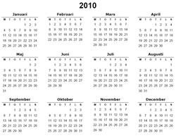 utskriftsvennlig kalender 2018